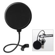 Century Accessory Flexible Studio Microphone Mic Wind Screen Pop filter Mask Shied Black