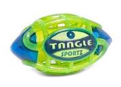 Tangle Sportz Matrix Airless Nightball Light-up Football~ Small ~Blue and Green