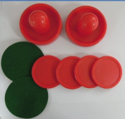 Dazzling Toys Two Red Air Hockey Pushers and Four Red Pucks -