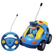 Cartoon R/C Police Car Radio Control Toy for Toddlers