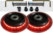 Luggage Lighted Wheel Set - Red Colour