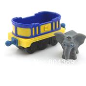 Original Learning Curve Chuggington Diecast Train Toy---rare Mtambo's Safari Cars Elephant Blue