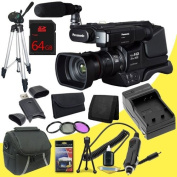 Panasonic HC-MDH2 AVCHD Shoulder Mount Camcorder (PAL) + 64GB SDHC Class 10 Memory Card + 49mm 3 Piece filter Kit + Carrying Case + Full Size Tripod + SDHC Card USB Reader + Memory Card Wallet + Deluxe Starter Kit DavisMax Bundle