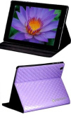 SANOXY® Grid Style Protective Diamond Pattern PU Leather Case w/ Smart Cover with Stand for iPad 2/3/4