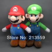 New Super Mario Bros. Stand Mario & Luigi 2 Pcs Plush Doll Stuffed Toy 25cm