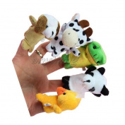 On 10x Cartoon Biological Animal Finger Puppet Plush Toys Child Baby Favour Dolls