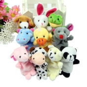 For Baby Creation 10pcs Finger Puppets Cartoon Lovely Plush Cloth Toys Doll