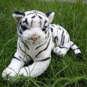 Stuffed Animal 30x17 Cm Lying White Tiger Plush Toy Emulation Doll K0590