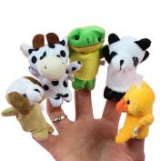 10 X Cartoon Biological Animal Finger Puppet Plush Toys Child Baby Favour Dolls E