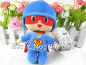 17cm Pocoyo Bandai Plush Soft Figure Toy--super Pocoyo