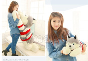 Stuffed Animal Lovely Husky Dog Plush Toy About 80cm Prone Dog Doll 31 Inch Cushion Throw Pillowtoy H888