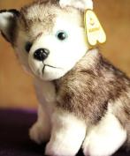 Stuffed Simulation Animal 30cm Husky Dog Plush Toy Simulation Dog Doll D8056