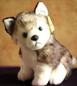 Stuffed Simulation Animal 15cm Husky Dog Plush Toy Simulation Dog Doll D8055
