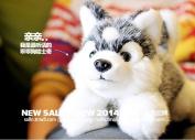 Stuffed Animal 23cmsimulation Husky Dog Plush Toy Soft Doll W59