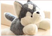 Stuffed Animal Lovely Husky Dog Plush Toy About 70cm Lifelike Husky Dog Doll Throw Pillowtoy H7633