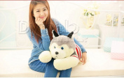 Stuffed Animal Lovely Husky Dog Plush Toy About 65cm Prone Dog Doll 25 Inch Cushiontoy H887