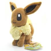 New 19cm  Eevee Pokemon Rare Soft Plush Toy Doll