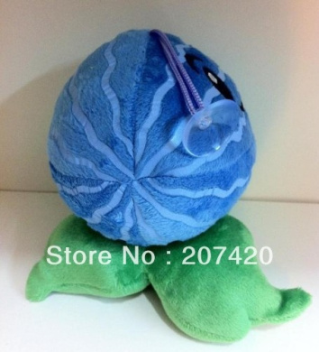 Cute Child Gift Plant Vs Zombies Ice Watermelon Plush Toys,6inch/15cm,/pack