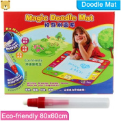 80x60cm Magic Water Doodle Mat With 2 Magic Pen/water Drawing Board/water Mat/aquadoodle Mat,opp Bag Packing