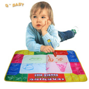 72x49cm 4 Colour Water Drawing Toys Mat Aquadoodle Mat&1 Magic Pen/water Drawing Board/baby Play Mat
