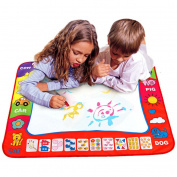 Innovative Items Aqua Doodle Children's Drawing Toys Mat Magic Pen Educational Toy 1 Mat+ 2 Water Drawing Pen Size 80*60cm