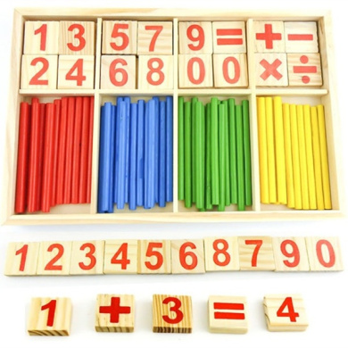1pceducational Wood Figure Arithmetic Math Toys For Children Fancy Toys Fz2065 H1qf