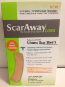 Scar Away Long, Silicone Scar Sheet 6 Sheets 3.8cm X 18cm