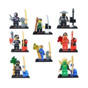 8pcs/lotnew Sy Turtles Building Bricks Blocks Sets Super Hero Figures Minifigures Learning Toys  .