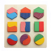 New Wooden Geometry Block Montessori Early Learning Kid Baby Educational Toy