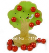 Baby Gift Montessori Education Kids Wooden Toys Early Learning Magnetic Toys Apple Tree