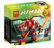 Bela 9790 Kay Flame Mecha Final Phantom Ninja 105 Pcs/set Educational Building Blocks Toys Children's Christmas