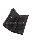 Dealstores123 - Genuine Leather Women's Wallet, 9 Card Slots, 1 ID Slot