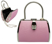 Posh Pink Satin Cocktail Purse