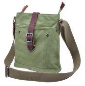 Gootium 40673 High Density Canvas Genuine Leather Small Cross Body Bag