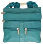 Soft Leather Cross Body Bag Purse Shoulder Bag 5 Pocket Organiser Handbag Travel Wallet #HN907