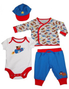 Happi by Dena - Newborn Boys 4 Piece Pant Set