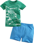 Vaenait Baby Little Boys 2 Pieces Shortsleeve Top and Shorts Outfits Set Racing