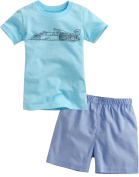 Vaenait Baby Little Boys 2 Pieces Shortsleeve Top and Shorts Outfits Set Blue F-1