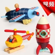 Janod Wooden Magnetic Assembling Toys Helicopter 3