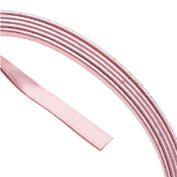 Artistic Wire Flat Wire, 21 Gauge Thick, 0.9m Coil, Rose Gold Plated