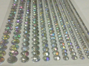 (616pcs)12 Ab Clear Self Adhesive Diamante Strips Stick on Gems Diamond Wedding