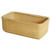 Tengtian Brand, Nantucket Basket, Storage Basket, Square Box, Desktop Organiser, America White Wood, Imported Indonesian Rattan, China Traditional Handicrafts, Casual Style, Natural Environmental Protection