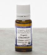 Essential Oil Citronella Organic Simplers Botanicals 15 ml Liquid