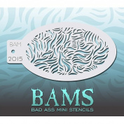 Bad Ass Curved Foliage Mini Stencil BAM2015