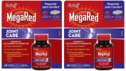 Schiff MegaRed Joint Care with Krill Oil, Hyaluronic Acid and Astaxanthin - 2 Bottles, 60 Softgels Each