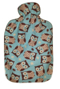 Warm Tradition Owls 100% Cotton Flannel Hot Water Bottle Cover - COVER ONLY- Made in USA