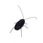 Solar Power Energy Cockroach 6 Legs Black Children Insect Bug Teaching Fun Gadget Toy Gift Bs88