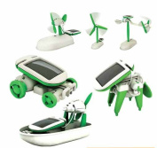 New6 In 1 Educational Diy Electronic Kits Steamboat Windmill Dog Automobile Rotary Aircraft Solar Toys Of0032