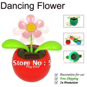 Creative Solar Power Dancing Flower Flip Flap Swing Flower For Car