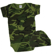 Celebration Designs Baby Camouflage One Piece with Matching Hat